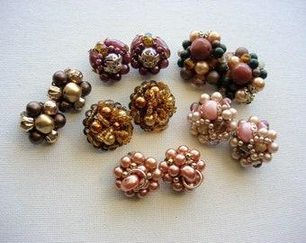 Wear/Craft Lot of Beaded Vintage Earrings