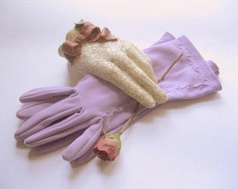 Gants doigt lavande, taille 7, taille 7 1/2, doigt, Occasion spéciale, mariage, bal de Graduation, par mailordervintage sur etsy