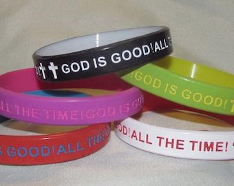 GOD IS GOOD Silicone Bracelet
