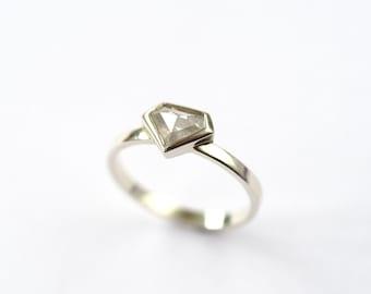 Diamond Ring, Diamond, Engagement Ring, Engagement, Rose Cut Diamond, Promise Ring, Diamond Engagement Ring, Handmade Ring, Marry Me, Ring