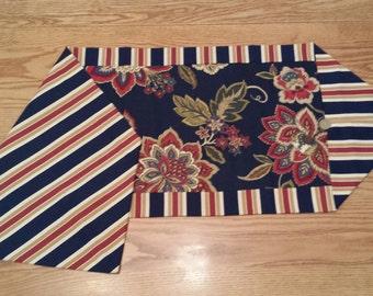 Flower and Strip Table Runner