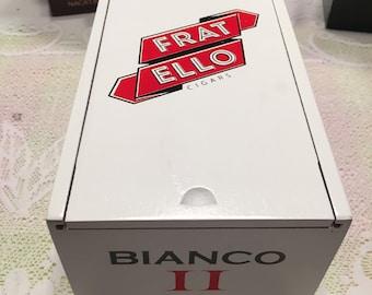 Cigar box, humidor, groomsmen gift, father's day, valet box, storage, fratello