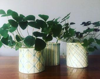 white porcelain planter