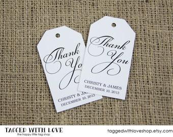 Thank You Tag - Custom Thank You Tags - Party Favor Tags - Bridal Shower Tags - Party Thank You Tags - Custom Tags - MEDIUM