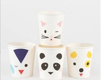 ON SALE Mini animals Paper Cups
