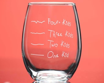 Mother's Helper by Caloric Cuvee® 15oz Stemless Wine Glass - indulge by the ounce - gift for friend - funny glass - counting calories - kids