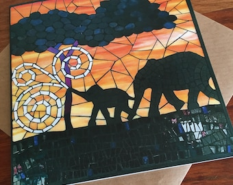 African/Ethnic Mosaic Cards - Greeting Cards