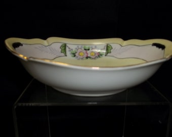 Meito China Hand Painted Porcelain Pink Flower Bowl - Vintage Item #1103  ON SALE NOW!!