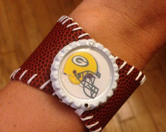 Green Bay Packers Football Bracelet
