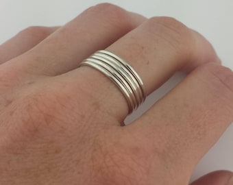 16g Silver Stacker Rings, 1.3mm Argentium Sterling Silver Stacking Rings