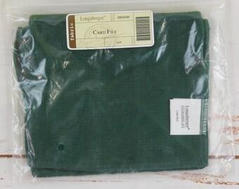Longaberger Basket Fabric Liner Card File - Ivy Green