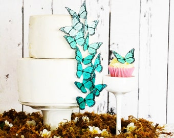 Edible Ombre Monarch Butterflies - Food Decorations - Edible Butterfly - Wedding cake decoration