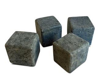 Whiskey Rocks – Set of 4 Soapstone Drink Rocks - Large Size