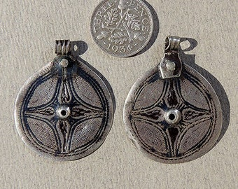 2 old ethnic silver pendants from thailand #6