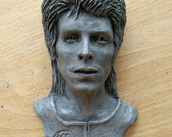 David Bowie/David Bowie inspired gift/David Bowie as Ziggy Stardust wall plaque