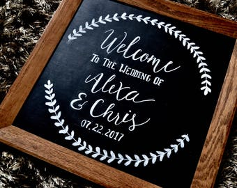 Welcome Wedding Sign / Wedding Personalized Chalk Sign / Chalkboard sign