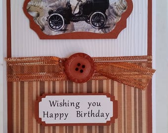 Handmade handcrafted masculine Birthday card