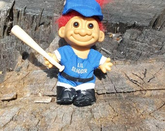 Vintage Russ Lil' Slugger Troll Doll