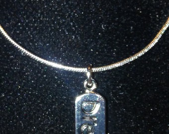 Dream necklace silver plated chain