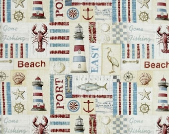 Quilting Treasures - Seaside - Seaside Patch - Multi