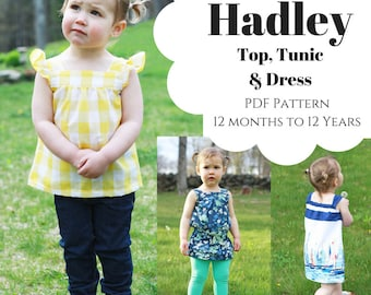 Hadley Top, Tunic & Dress PDF Pattern