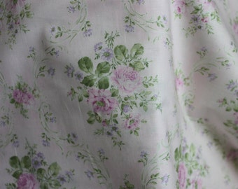 Yuwa Roses on light pale pink AF816824C Cotton Fabric