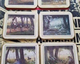 A Vintage British Set of Coasters (6)