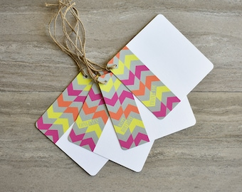 Arrow Chevron Gift Tags | Set of 20 + Twine | READY TO SHIP | Hang Tag | Swing Tag | Favor Tag | Wine Tag | Party Gift Tag | Gift Wrapping