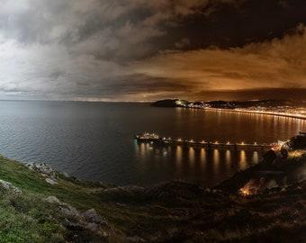 Day to night over Llandudno
