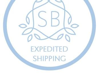 Schneller Versand-Upgrade - schnell Versandoptionen per USPS für Bestellungen von etwas blau