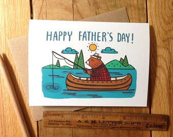 Bear Fisherman Father's Day Card