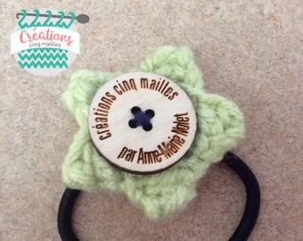 Elastic star wool soft green fill