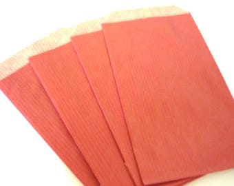 20 kraft red size 7x12cm packaging bags