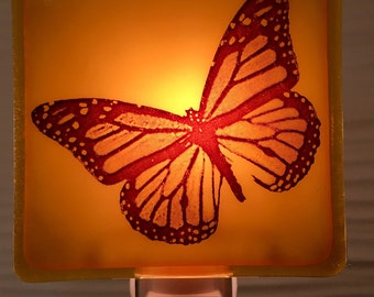 Butterfly Fused Glass Night Light