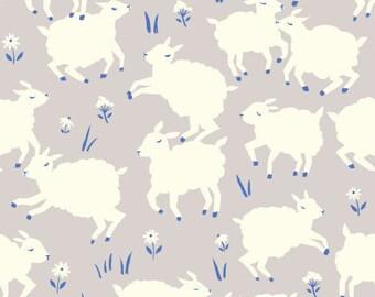 Organic Crib Sheet, Changing Pad Cover, Little Lambs Fog, Woodland Crib Bedding, Woodland Nursery, Birch Organic Fabric, Nursery Bedding,