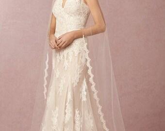 Corded Lace Wedding WHITNEY Veil , Lace Bridal Veil, White, Off White, Ivory Wedding Veil, Bridal Veil.