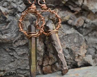 Bronze Age Spike Earrings