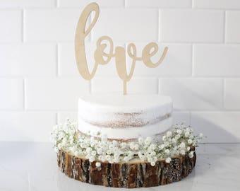 Love Cake Topper, Wedding Love Cake Topper, Wedding Cake Toppers, Custom Cake Toppers, Personalized Cake Toppers, Bridal Shower Cake Topper