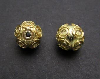 1 Pc, 8.1mm, 24K Gold Vermeil Beads
