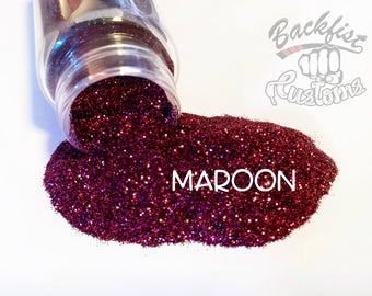 MAROON || Opaque Fine Glitter, Solvent Resistant