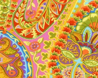 Kaffe Fassett for Rowan Westminster Fibers - Paisley Jungle - Lime Green - 1/2 yard cotton quilt fabric 217