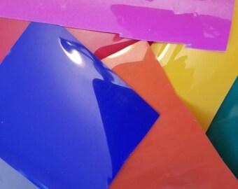 Heat transfer vinyl scraps