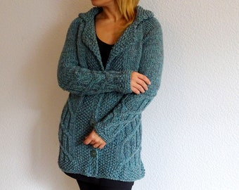 cable knit cardigan, knitted cardigan, alpaca wool cardigan, braided cardigan, aran cardigan, cable knit, alpaca wool, ready to ship