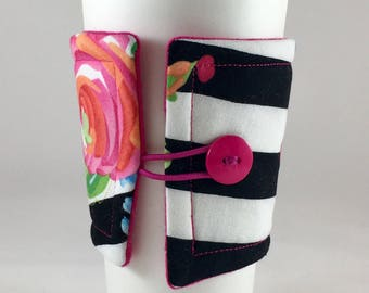 Floral Coffee Sleeve, Floral, Coffee, Cup Cozy, Drink Sleeve, Coffee Cozy, Drink Cozy, Insulated Coffee Sleeve, Fabric Coffee Sleeve