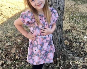 Peasant Dress| Flower Dress| Flower Peasant Dress| Toddler Dress| Dress| Girl's Dress