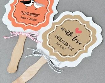 Wedding Fan Personalized Fan Wooden Paddle Fan Wedding Favor Personalized Paper Fan Beach Fan Favors Beach Wedding Ideas (EB2354TZ) -24|fans