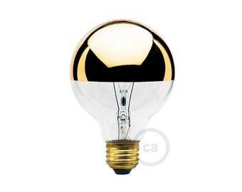 Half gold dipped light bulb