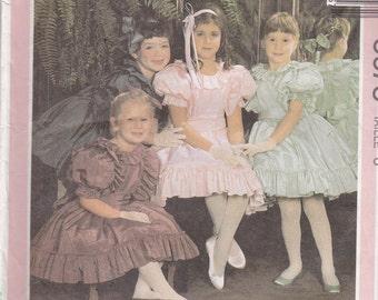 McCalls 5675 Vintage Pattern Little Girls Formal Dress, Easter Dress, Flower Girl Dress With Princess Seams Size 8 UNCUT