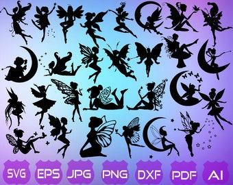 30 Fairy SVG | Fairy Silhouette | Fairy Clipart | Fairy Cut File | Fairy Vectorial | Fairies SVG | Fairy | Fairy Dxf | Instant Download |