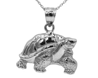 925 Sterling Silver Turtle Necklace